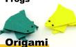 Cómo una rana de Origami