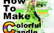 Cómo hacer una velas de colores!!