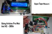 Ultrasonido digital cinta métrica