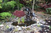 Estanque de jardín y cascada: No es necesario experiencia.