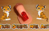 Arte del clavo de rayas de tigre