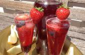 Té helado de fruta de verano