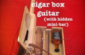 Cigarro caja guitarra con whisky oculta Mini-Bar