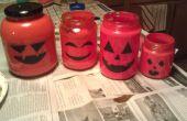 Último minuto Halloween vidrio botella linterna