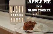 Tarta de manzana en una olla