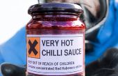Salsa de chiles muy calientes