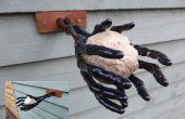 Hacer un Spooky Halloween grasa bola alimentador para jardín aves