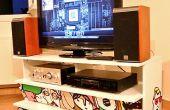 Un PC encerrado en un mueble de IKEA Benno TV