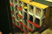 Litera del gatito cubo de almacenamiento estantería