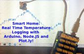 Registro de temperatura en tiempo real con Arduino, NodeJS y Plotly!