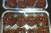 Decoración postre - Rudolph el reno de la magdalenas