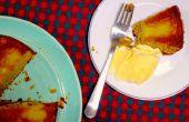 Pera al revés abajo torta | Simplificado