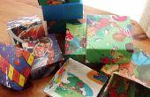 Cómo hacer una caja de regalo reciclado: