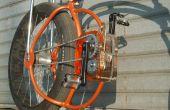 Caja transparente en una bicicleta casera
