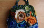 Bolso de Crochet Freeform:
