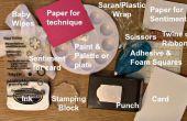 Técnica de textura simple plástico Saran Wrap y pintura