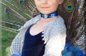 Traje de la princesa pavo real (cola totalmente articulada)