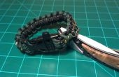 Kit de supervivencia dentro de un brazalete de Paracord
