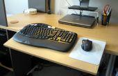 Plataforma ajustable para teclado, extensión lateral