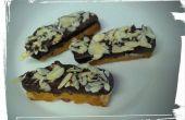 Inmersión en chocolate Biscotti almendra naranja