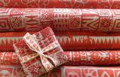 Navidad de batik, papel de embalaje