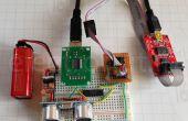 Hablando a ultrasonidos distancia Sensor HC-SR04 usando un ATtiny84