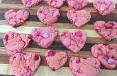 Galletas de corazón de fresa