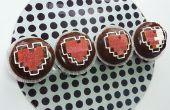 Cupcakes de contenedor de corazón de Zelda