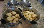 Comidas un pote - guiso de albóndigas (carne de res y pollo) &