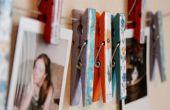 Primavera en invierno: ropa Pin Art