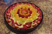 Tarta de frutas frescas con almendras costra Graham