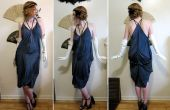 Convertir 3 pañuelos de seda y 3 costuras en un vestido de pañuelo estilo década de 1920