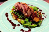 Pato con salsa de vino tinto y grosellas | Cocinando con Benji