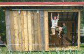 Construir un cobertizo portátil aserrada