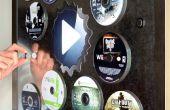 Monte - tienda y CD pantalla en superficies de Metal de disco