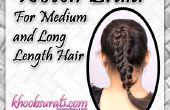 Tejido de trenza para medio y largo pelo largo