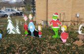 Decoraciones navideñas de arte de la yarda de madera bricolaje Navidad