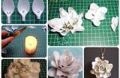 Flor de una cuchara de plástico (DIY)