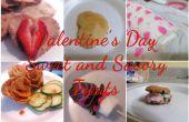 Día de San Valentín dulce y golosinas saladas