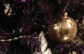 Pintar un árbol de Navidad Artificial púrpura