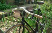 Apretones de manillar de bicicleta de madera.