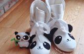BRICOLAJE cama Panda botas con peluche