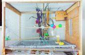 Pájaro grande DIY jaula pajarera pequeña