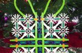 K'nex decoración de la Navidad presente