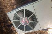 Un básico limpio para unidades de aire acondicionado al aire libre