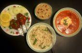 Mantequilla pollo (Tandoori) y fechas de arroz con leche
