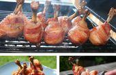 El arce esmaltó tocino envuelto Piruletas de pollo