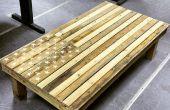 Bandera americana mesa de centro - muebles de palets