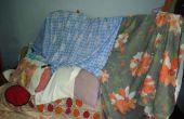 FORT hizo de cama, cuna, almohada y hoja