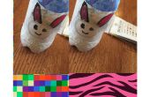 Soporte de plástico botella de conejito lápiz